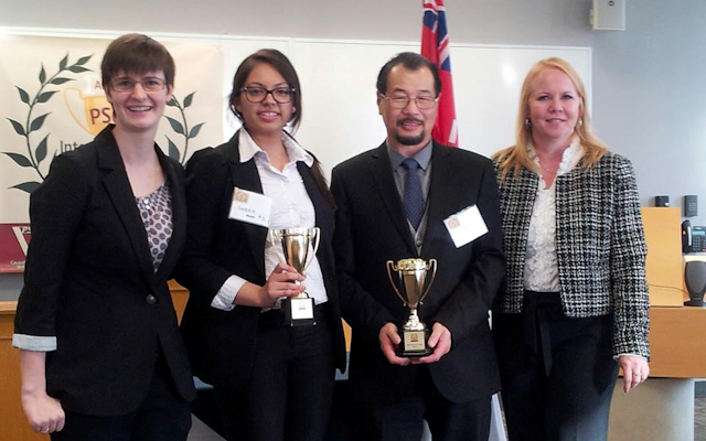 Sabah Fatima and Derek Lai - Centennial College, 2013 Paralegal Cup Michael Turvey Finalists