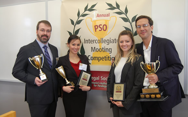 Olivia Ho and Royce Calverley - Canadian Business College, Paralegal Cup Champions