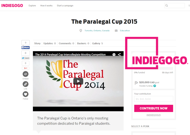 Paralegal Cup on IndieGoGo
