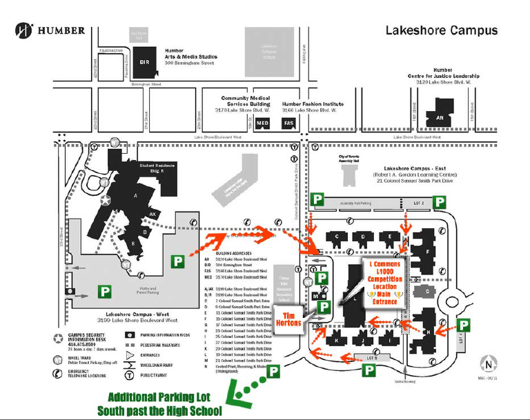 Humber College Parking Map