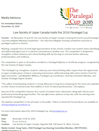 Paralegal Cup Advisory