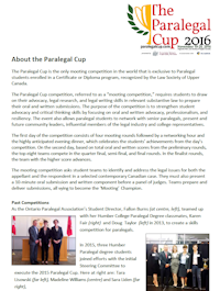About the Paralegal Cup